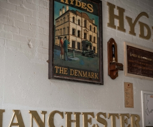Hydes brewery signage